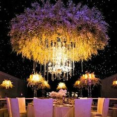 Just a cool idea I saw at a Biltmore Estate wedding reception post somewhere....and another massive floral chandelier