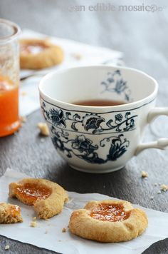 Jam Filled Shortbread - made from graham cracker crumbs