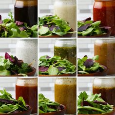 Healthy Juice Recipes 850547079603460248 - Mason Jar Salad Dressings 9 Ways Source by Salad In A Jar, Soup And Salad, Tasty Videos, Food Videos, Healthy Snacks, Healthy Eating, Healthy Recipes, Salad Dressing Recipes, Salad Dressings