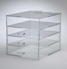 Acrylic Lucite Clear Makeup Organizer  Cosmetic Organizer: http://www.amazon.com/Acrylic-Lucite-Makeup-Organizer-Cosmetic/dp/B004VFQVNK/?tag=autnew-20