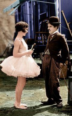 """Charlie & Merna in """"The Circus"""" - 1928"""