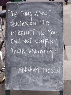Haha oh I love me some Abe.