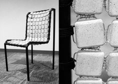 singapore designer fung kwok pan set out to prove cold industrial materials like steel and concrete can be comfortable with the concretus chair. Industrial House, Rustic Industrial, Industrial Design, Concrete Tiles, Concrete Design, Cement, Innovation Books, Concrete Projects, Pan Set