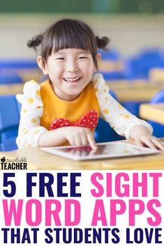 Students need tons of practice and repetition to recognize, read and spell sight words. These free sight word apps are perfect for getting extra practice! Sight Word Apps, Sight Word Readers, Sight Word Sentences, Sight Word Flashcards, Sight Words List, Dolch Sight Words, Sight Word Practice, Free Spelling Games, Spelling Activities