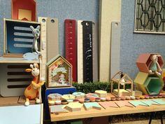 Espaço da Maria Joaquina Marcenaria na feira Pitanga - vem ver mais do mobiliário infantil que a marca desenvolve!