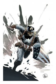 Captain America by Lee Weeks #LeeWeeks #CaptainAmerica #SteveRogers #Avengers #Illuminati #SHIELD #AllWinnersSquad #TheInvaders