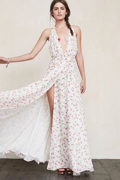 Do unto your bridesmaids as you would want done unto you. The Arianna Dress is just a beautiful gown they can feel good in and most importantly, wear again. This is a full length georgette wrap dress with a ruffled plunging neckline, tied waist and a deep V back.     https://www.thereformation.com/products/arianna-dress-sweetie?utm_source=pinterest&utm_medium=organic&utm_campaign=PinterestOwnedPins