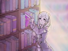 Robin checking out a book