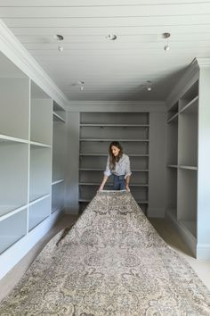 White Baseboards, Painted Closet, Indoor Paint, Chris Loves Julia, Ikea Pax Wardrobe, Built In Pantry, Pleated Curtains, Diy Bench, Closet Designs
