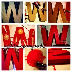 Letra de madera W personalizada para withloceforyou80
