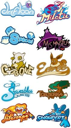 Pokémon Typefaces. #Pokemon #Typeface