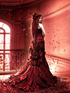 Fantasy Women in Red Beautiful Fantasy Art, Dark Fantasy Art, Gothic Art, Gothic Girls, Perfect Image, Perfect Photo, Love Photos, Beautiful Pictures, Girly Pictures