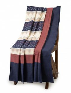 Ikat Cotton Single Bed Cover - 90in x 60in #decor #homelinen #beautifulhomes  www.jaypore.com