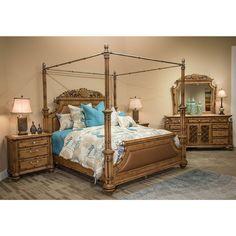 Beautiful Michael Amini Villa Valencia Canopy Bed