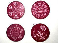 "Stencil, Reusable Rangoli Stencils, craft stencil, craft supplies - DIY Diwali Rangoli kit with 8"" stencils"
