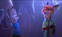Judy and Nick at Gazzelle's concert. Cuties! #Zootopia #JudyHopps #NickWilder