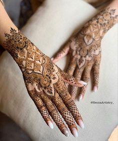 Mehndi Designs Bridal Hands, Finger Mehendi Designs, Kashee's Mehndi Designs, Pretty Henna Designs, Latest Henna Designs, Floral Henna Designs, Mehndi Design Pictures, Mehndi Designs For Fingers, Mehndi Patterns