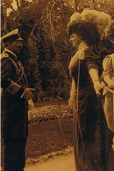 "Donna Franca Florio and Kaiser Wilhelm III, who gave her the nickname ""Star of Italy""."