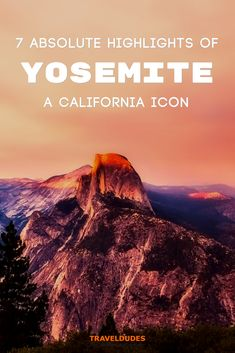 A complete guide to visiting Yosemite National Park in California. The perfect winter or summer adventure destination, Yosemite includes remarkable granite cliffs, and stunning natural beauty, a nature lover's paradise. A list of things to do, places to visit, hikes, and Half Dome viewpoints. | Travel Dudes Travel Community #Travel #TravelTips #TravelGuide #Wanderlust #BucketList #Yosemite #NationalPark #California #Adventure