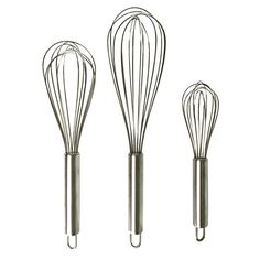 ONME Kitchen Whisk Stainless Steel Whisk, Balloon Wire Whisk, Egg Frother Milk Egg Beater, Kitchen Utensils For Blending Whisking Beating Stirring, Set Of 3 Kitchen & Dining Cooking Utensils Set, Kitchen Utensil Set, Kitchen Dining, Cooking Tools, Wire Whisk, Essential Kitchen Tools, Egg Beaters, Kitchen Supplies, Grey