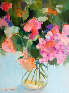 "all-things-bright-and-beyootiful: "" Erin Gregory "" Erin Gregory, Arte Floral, Abstract Flowers, Colorful Flowers, Love Art, Painting Inspiration, Still Life, Watercolor Art, Art Photography"