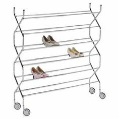 Shoe Rack in Chrome