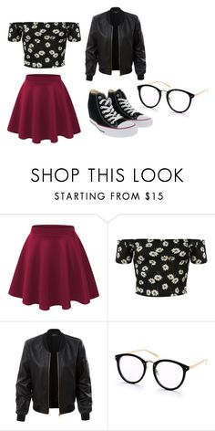 """""""outfit"""" by hjeanb on Polyvore featuring Pilot, LE3NO and Converse"""