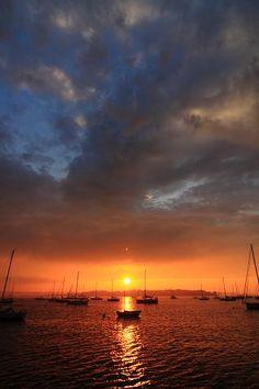 Dutch Harbor sunset, Jamestown, Rhode Island.