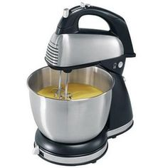 Hamilton Beach 64650 Classic Stand Mixer, Stainless Steel: Something that combines the functions of a hand mixer and a kitchenaid for way less? Kitchen Stand Mixers, Kitchen Aid Mixer, Test Kitchen, Pedestal, Small Appliances, Kitchen Appliances, Best Stand Mixer, Stainless Steel Bowl, Stainless Kitchen