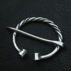 Silver fibula. Viking brooch. Reenactment. Medieval. Penannular Brooch. SCA.