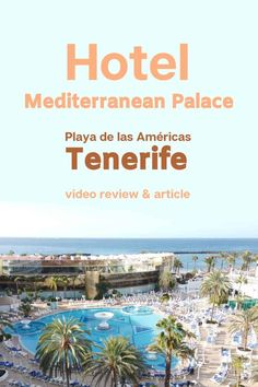 Hotel Mediterranean Palace Tenerife Review (with VIDEO) - 2019 Beautiful Hotels, Beautiful Beaches, Tenerife, Amazing Destinations, Travel Destinations, Hotel Buffet, Island Beach, Canary Islands, Hotel Reviews