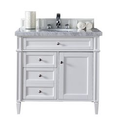 Good White 36 Inch Bathroom Vanity With Top