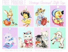 Sweet Nothings: Free Printable Gift Tags - cute pastel baby animals