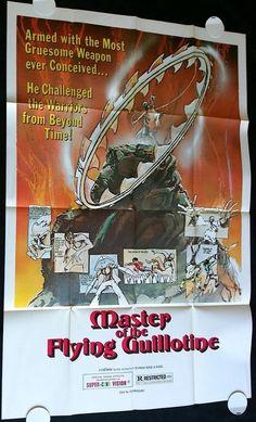 MASTER OF THE FLYING GUILLOTINE (1977) Movie Poster buff.ly/1v0p0at • #BMovie #MartialArts #KungFu #MoviePoster