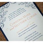 Flower and Flourish Romantic Wedding Invitation (Sparetire Design)