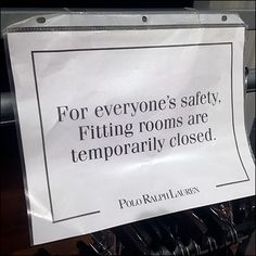 Ralph Lauren CoronaVirus Fitting Room Closed Polo Ralph Lauren Outlet, Service Counter, Floor Graphics, Retail Fixtures, Clothes Hanger, Close Up, Cards Against Humanity, Room, Coat Hanger