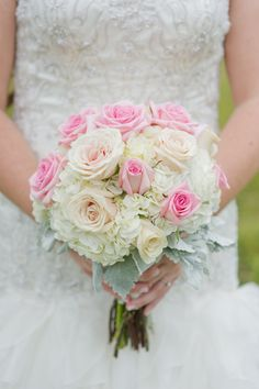 pink and ivory bouquet - photo by Vicki Bartel Photography http://ruffledblog.com/pastel-ontario-wedding-at-sprucewood-shores
