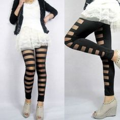 Leggings pantalon transparencia