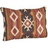 SARO LIFESTYLE 1-Piece Kilim Design Pillow Set, 16 by 23-Inch, Multicolor, Oblong