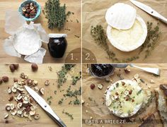 Baked Brie recipe in 4 easy steps