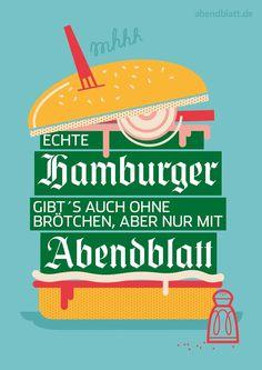 #Kampagne #Illustration #HamburgerAbendblatt  Kunde: Zeitungsgruppe Hamburg, Agentur: Oliver Voss, Illustrationen: Veronika Kieneke