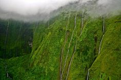 Hello waterfalls. Hawaii. The Weeping Wall Photo by Justin Gartman -- National Geographic Your Shot