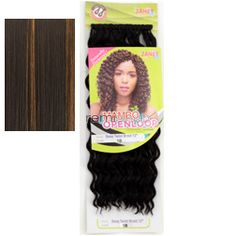 "Mambo Open Loop Deep Twist Braid 12"" - Color FS1B/27 - Synthetic Braiding"