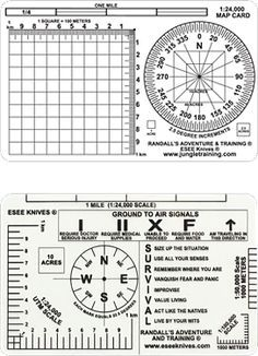 ESEE Knives - Randall's Adventure and Training Survival Card, Survival Tools, Survival Prepping, Wilderness Survival, Camping Survival, Outdoor Survival, Compass Navigation, Map Compass, Bushcraft