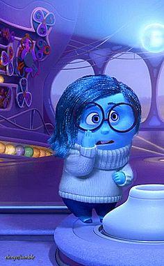 pixar disney pixar sadness inside out Disney Pixar, Disney Gifs, Walt Disney Co, Disney Cartoon Characters, Arte Disney, Disney And Dreamworks, Disney Cartoons, Disney Art, Disney Inside Out