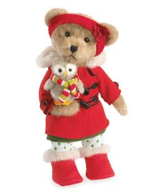Look what I found on #zulily! Holiday Friends Girl Plush Bear #zulilyfinds