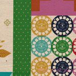 Melody Miller Ruby Star Polka Dot Patchwork Green and Navy [IMPORT-JG56510-12A] - $21.95 : Pink Chalk Fabrics is your online source for modern quilting cottons and sewing patterns., Cloth, Pattern + Tool for Modern Sewists