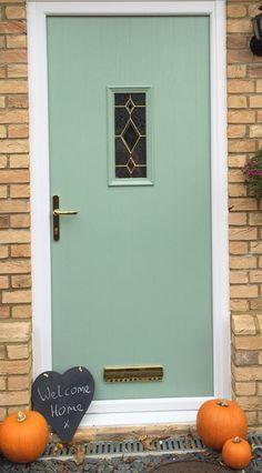 Halloween looks great on Adoored Composite Door in Chartwell Green!