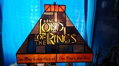 Lord of the Rings Stained glass lamp - Imgur