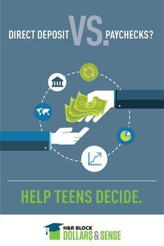 Direct deposit vs. paychecks? Be a resource for teens #SmartFinance